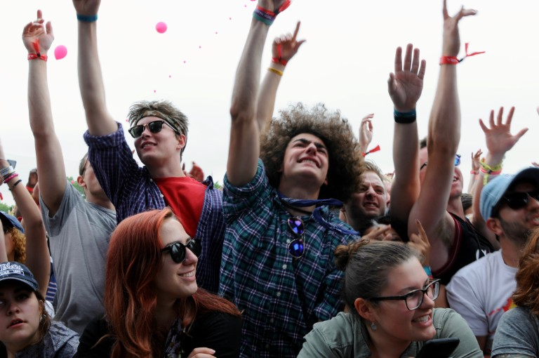 Crowd watching Action Bronson at Governors Ball, June 3, 2016