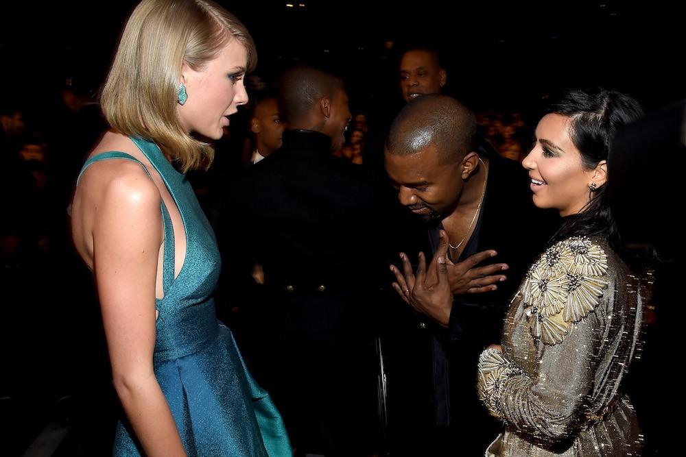 Kanye West, Kim Kardashian, Taylor Swift