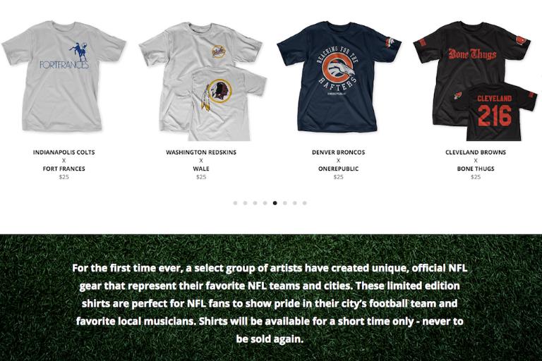 NFL music tshirt