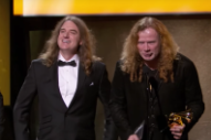 Grammys 2017: The House Band Played Metallica When Megadeth Accepted The Best Metal Performance Award