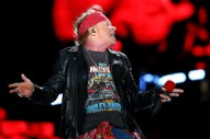 """Axl Rose Sings """"Highway To Hell"""" With Billy Joel at Dodger Stadium"""