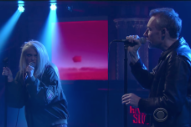 """Watch the Jesus and Mary Chain and Sky Ferreira Play """"The Two of Us"""" on <em>Colbert</em>"""
