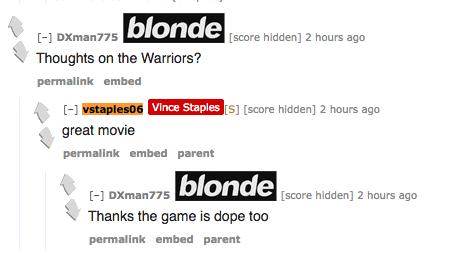 Vince Staples Warriors