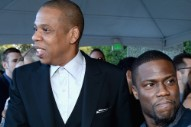 Watch Jay Z Pretend to Have a Friendly Chat With Kevin Hart for a Photo