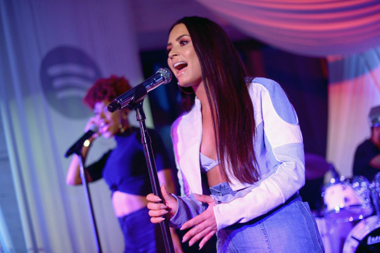 Spotify Hosts A Listening Event With Demi Lovato and Her Fans To Celebrate Her New Album
