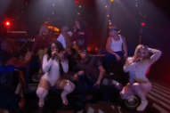 "Watch Fifth Harmony Perform ""He Like That,"" Get Pelted With Fruit on <i>Corden</i>"