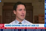 Watch Justin Trudeau's Tearful Tribute to Gord Downie