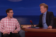 Watch Andy Samberg Discuss Marriage, Fatherhood, and Joanna Newsom's Harp Music on <i>Conan</i>