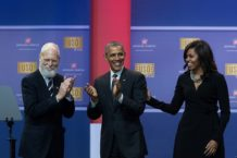Obamas And Bidens Attend USO Comedy Show For Military Appreciation Month