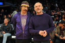 Anthony Kiedis Acts Crazy at Lakers/Rockets Game