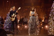 """Watch She & Him Perform """"The Christmas Song"""" on <i>Corden</i>"""