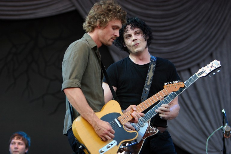 The Raconteurs' Brendan Benson and Jack White in 2008.