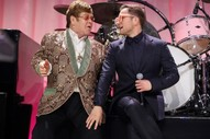 "Watch Elton John & Taron Egerton Perform ""Tiny Dancer"" at John's Oscars Party"