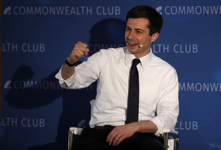 Democratic Presidential Candidate Pete Buttigieg Addresses The Commonwealth Club Of San Fransisco