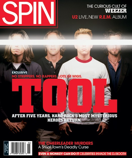 Tool on the cover of SPIN June 2001