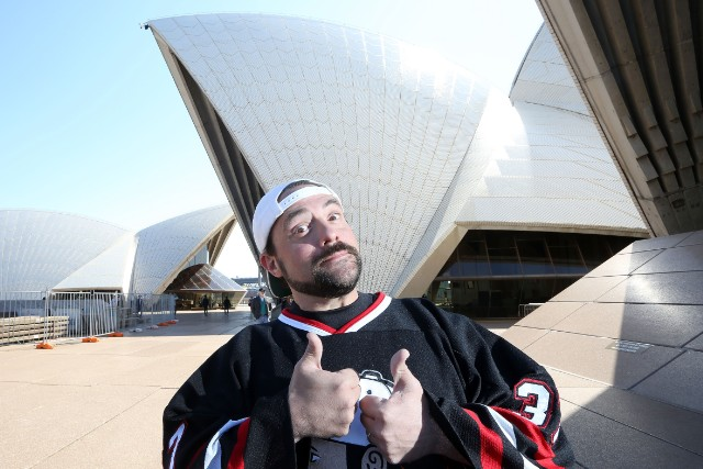 Kevin Smith and Jason Mewes (aka Jay and Silent Bob) Media Call