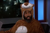 <i>Lion King</i> Star Donald Glover Shows Up to <i>Kimmel</i> Interview in Lion Costume