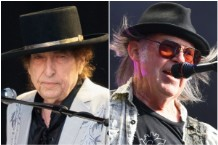 Neil Young Bob Dylan Perform Together