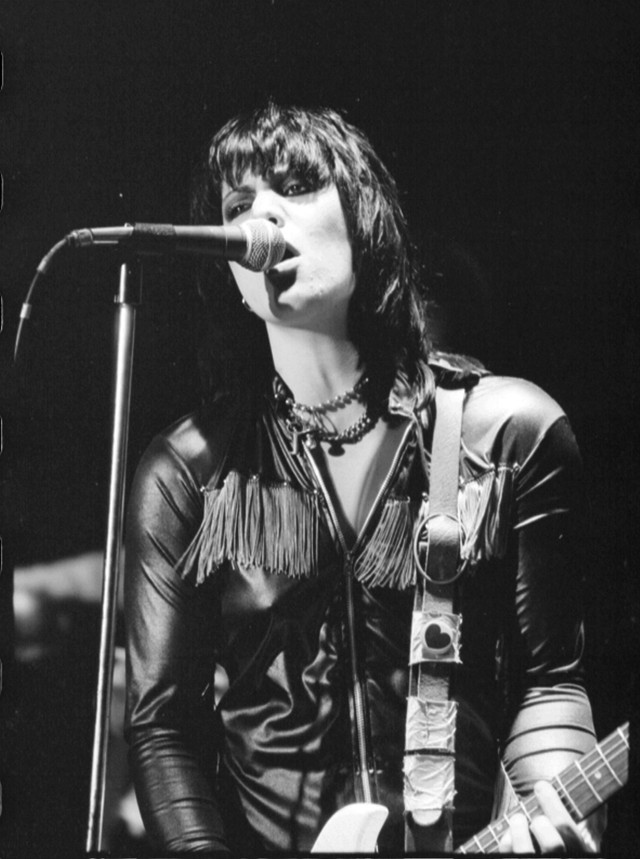 Guitarist and singer Joan Jett of the rock band