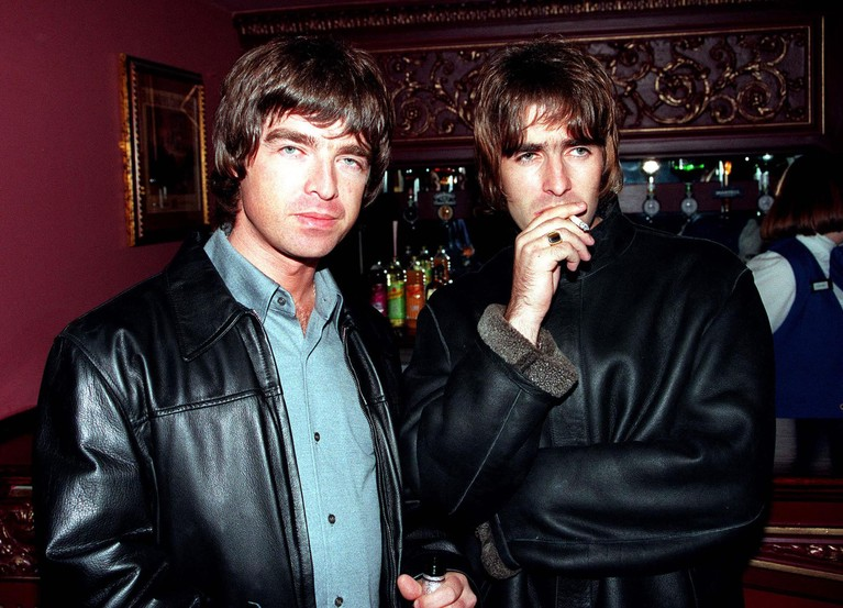 Liam Gallagher and Noel Gallagher of Oasis