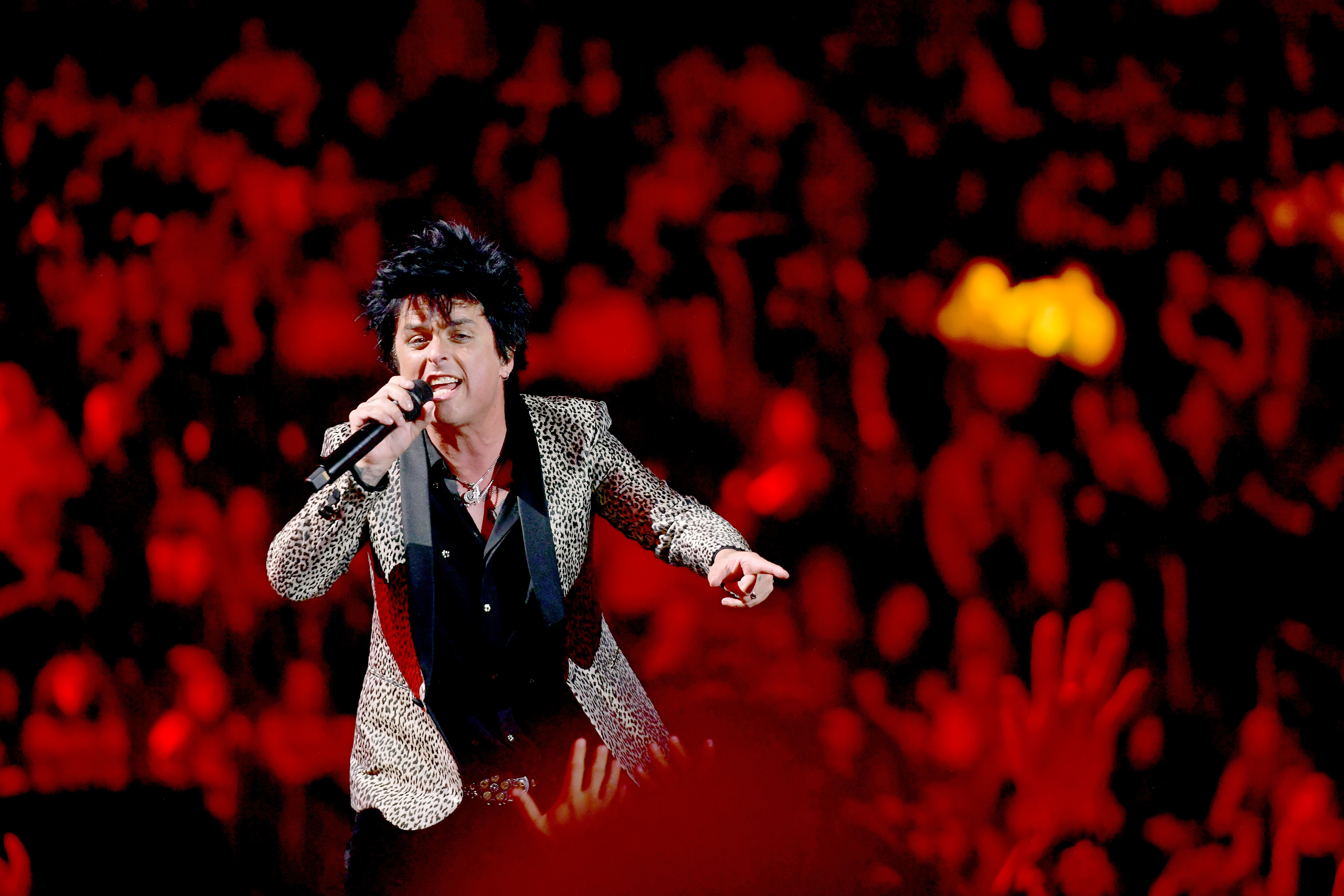 Billie Joe Armstrong of Green Day performs at the iHeartRadio festival on September 20, 2019