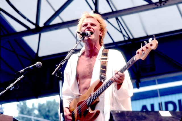 Musician Sting On Stage