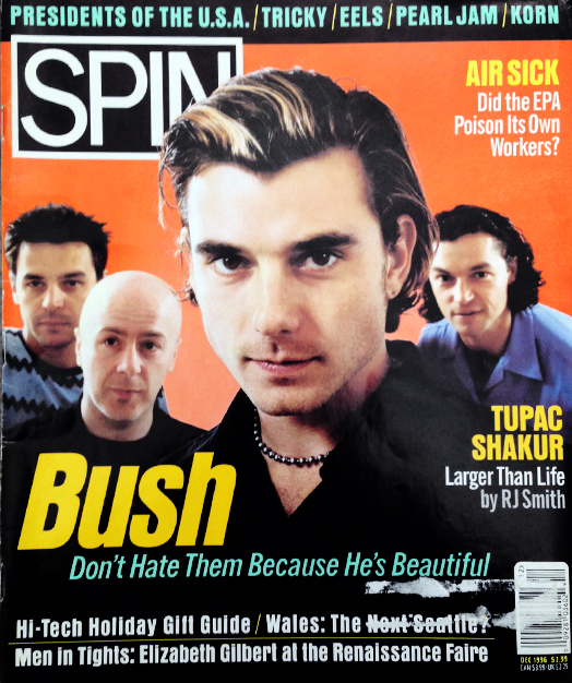Bush on the cover of SPIN December 1996