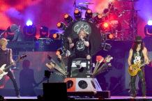 Axl Rose, Slash, and Duff McKagan of Guns N' Roses