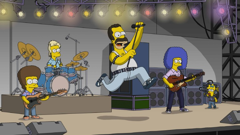 Homer Simpson as Freddie Mercury on The Simpsons