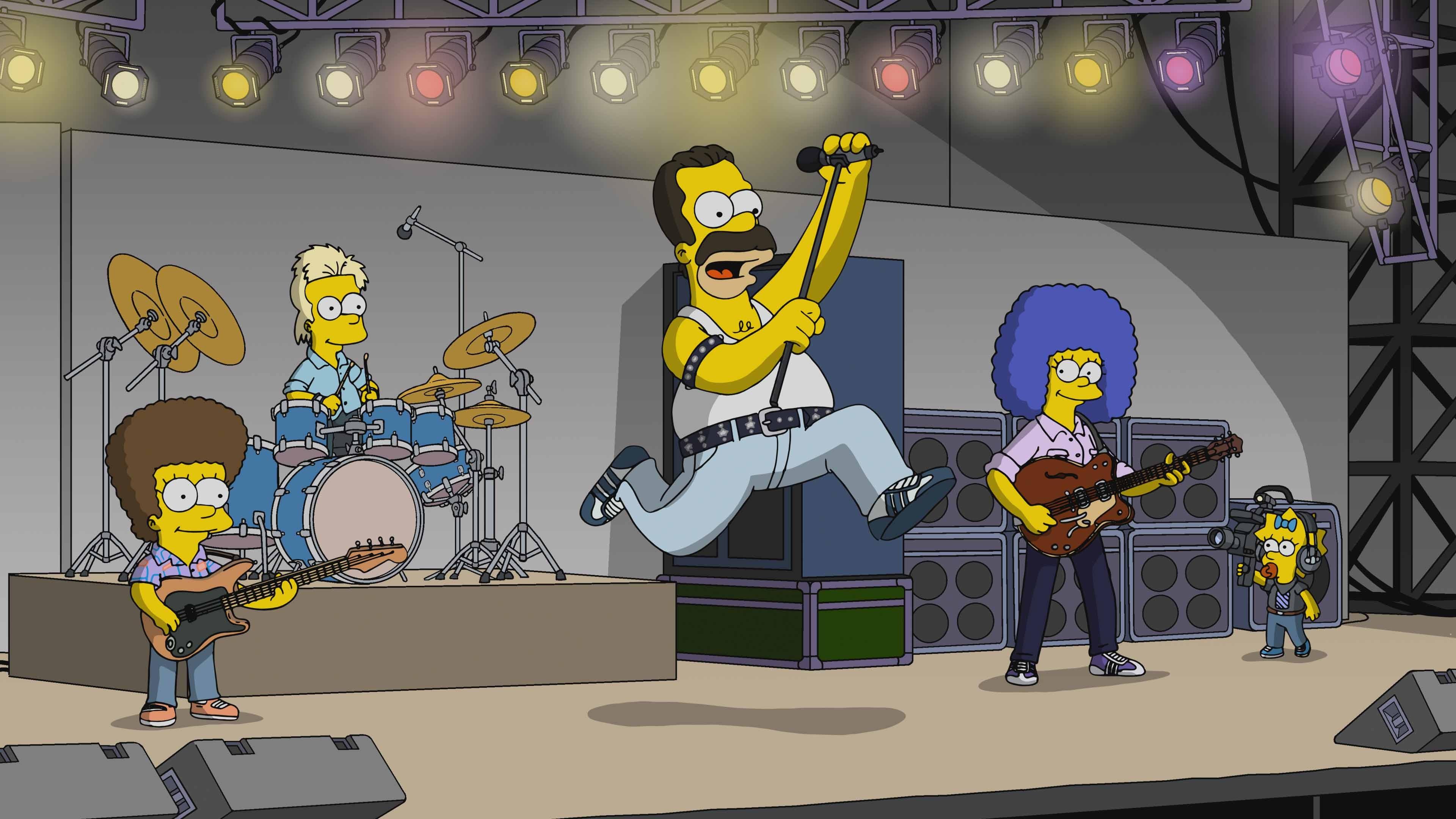 Homer Simpson as Freddie Mercury on The Simpsons