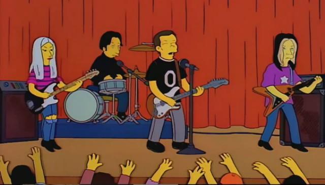 The Smashing Pumpkins on The Simpsons
