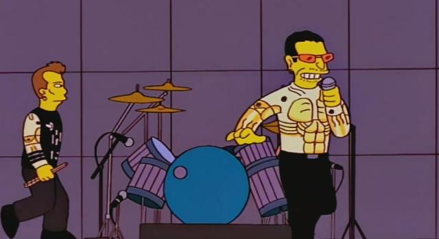 Bono of U2 on The Simpsons