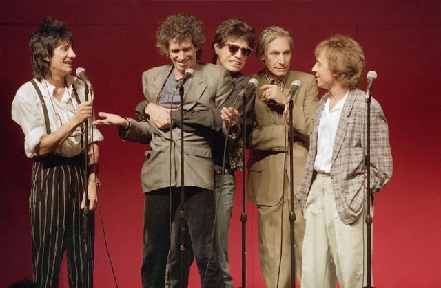 Les Rolling Stones en conférence de presse