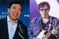 Here's Rivers Cuomo Performing at an Andrew Yang Rally in Iowa