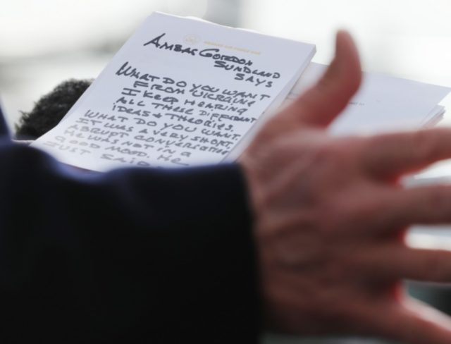 Trump's Notes for Impeachment Hearing Press Gaggle