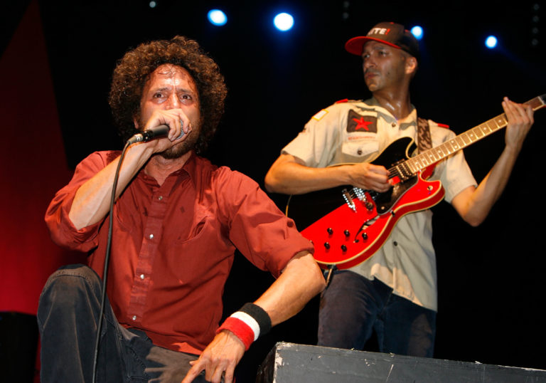 Zack de la Rocha and Tom Morello of Rage Against the Machine