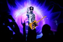 Prince performing in 2009