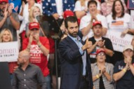 Donald Trump Jr. Shows Off AR-15 Decorated With a Cartoon of an Imprisoned Hillary Clinton