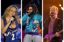 Mariah Carey J Cole Sting NBA All Star Game