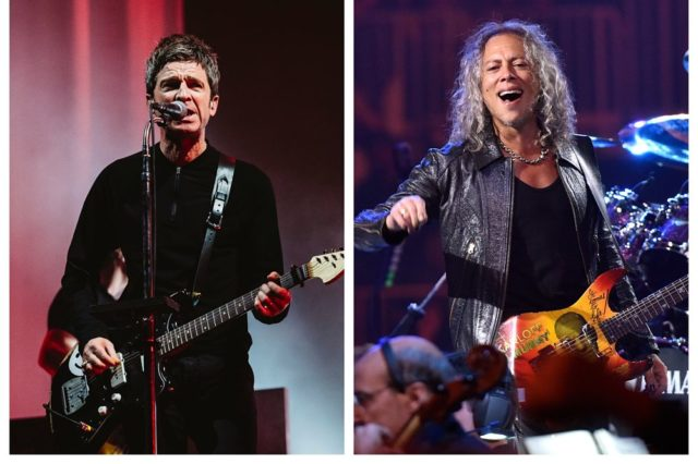 Noel Gallagher Kirk Hammett
