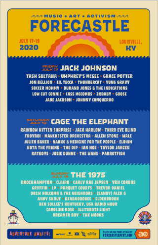Forecastle 2020 lineup in Louisville