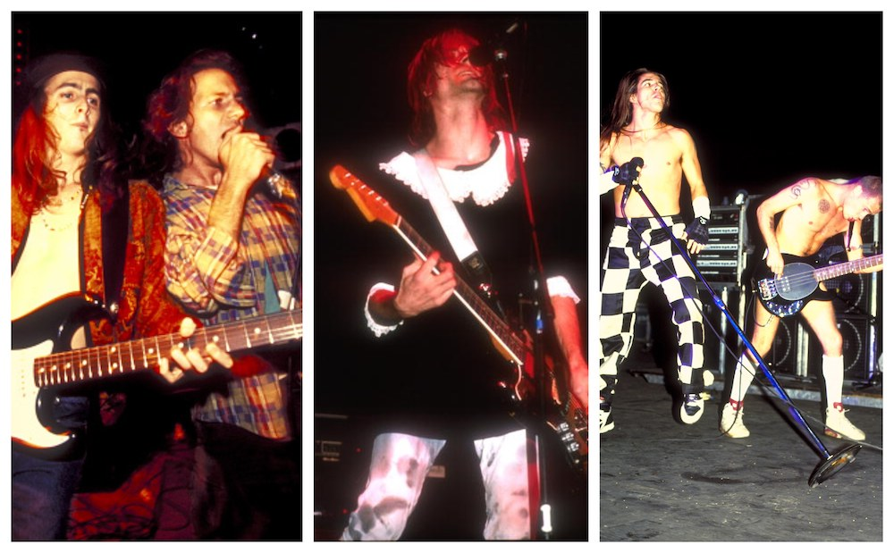 Pearl jam Nirvana Red Hot Chili Peppers
