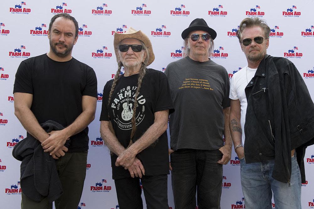 Willie Nelson Neil Young Dave Matthews John Mellencamp
