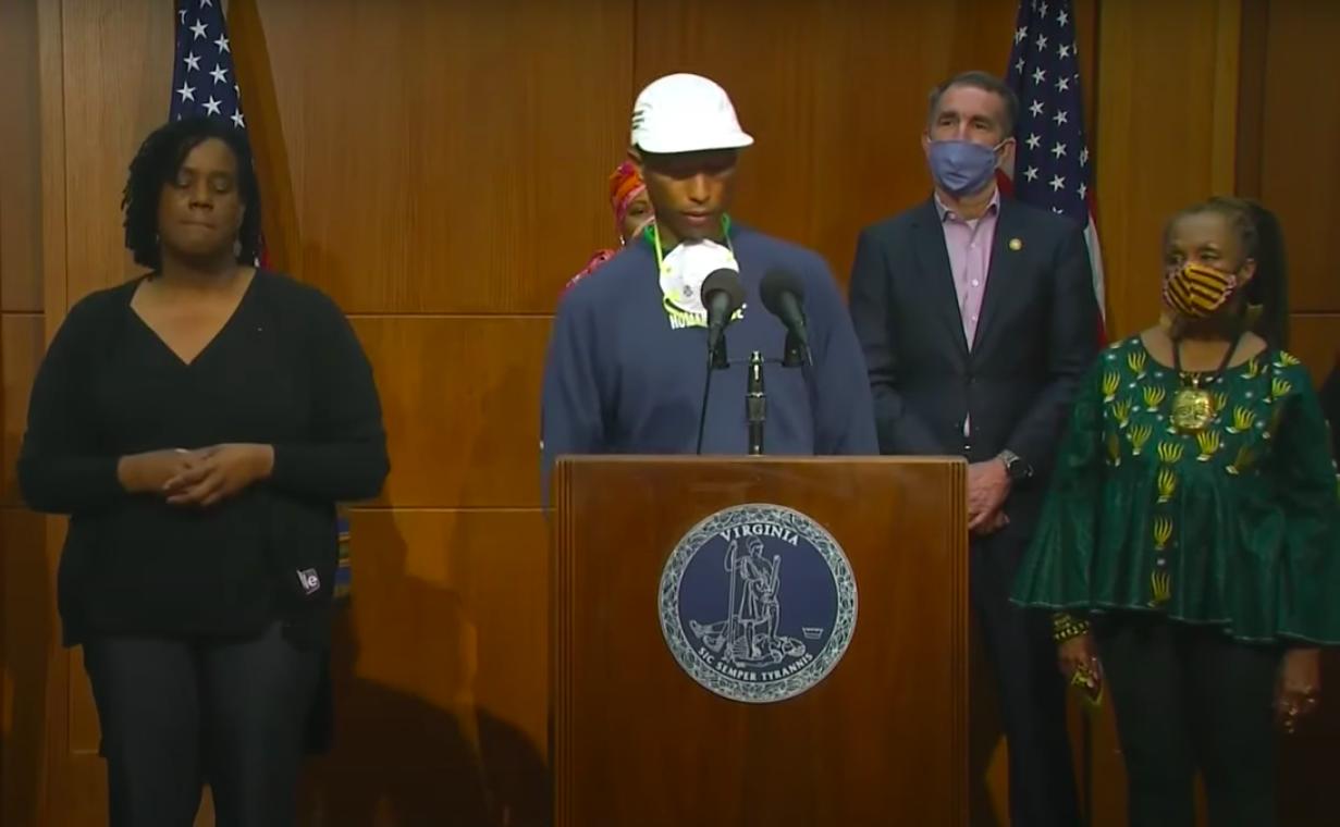 Pharrell juneteenth press conference