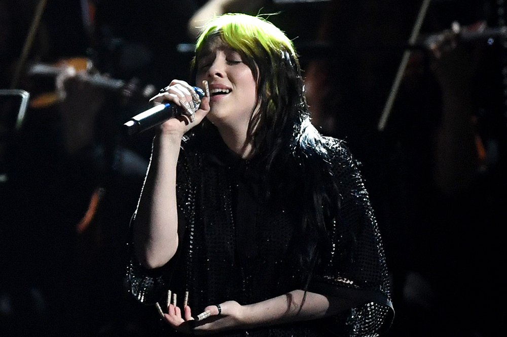 Billie Eilish at the BRIT Awards in 2020