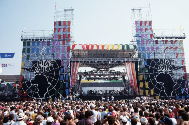 Live Aid Concert Stage