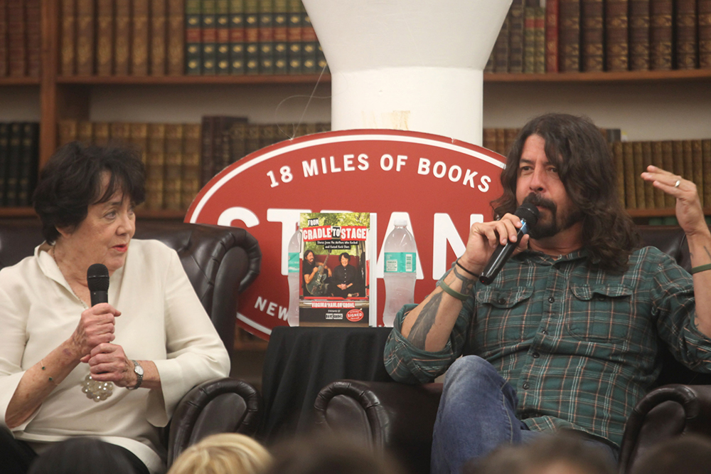Virginia Grohl Dave Grohl at The Strand in New York City