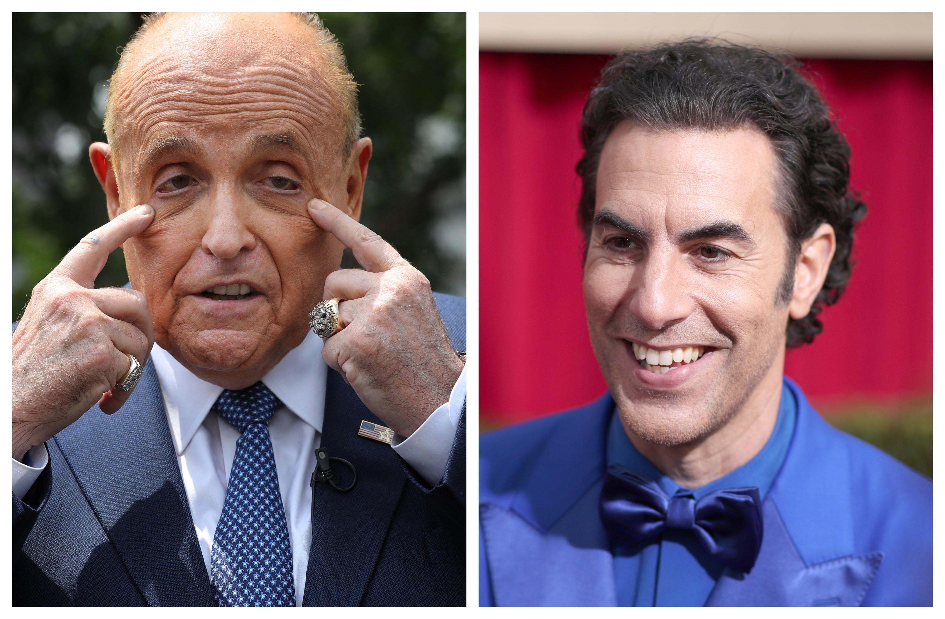 Rudy Giuliani Sacha Baron Cohen