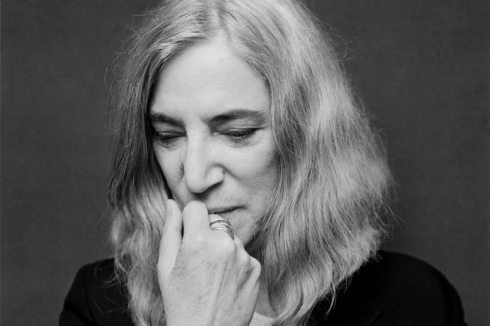 black and white portrait of Patti Smith