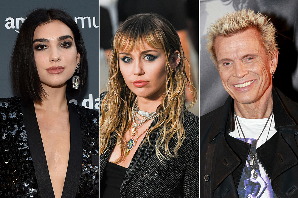 Miley Cyrus Enlists Dua Lipa Billy Idol For New Lp Spin